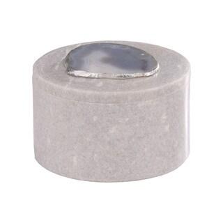 Dimond Home Round Agate Decorative Box - N/A