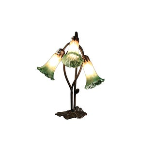 Messiah 3-light Amber and Green Glass 17-inch Tiffany-style Table Lamp