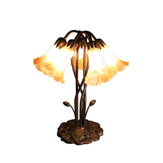 Lola 5-light Amber Glass 18-inch Tiffany-style Table Lamp