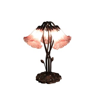 Masis 5-light Pink Glass 18-inch Tiffany-style Table Lamp