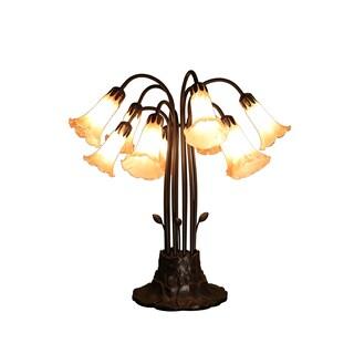 Meekay 10-light Amber Glass 24-inch Tiffany-style Table Lamp