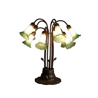 Ciara 10-light Amber and Green Glass 24-inch Tiffany-style Table Lamp