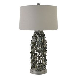 Capiz Beaded Lamp