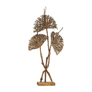 Dimond Home Pensacola Wooden Botanical Fan Sculpture