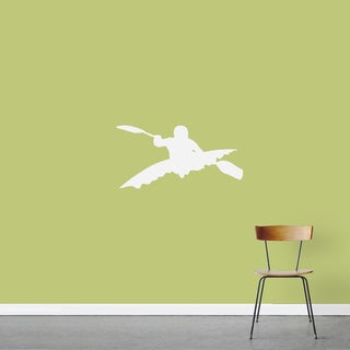 Kayaker 24 x 12-inch Wall Decal