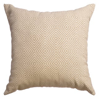 Daphne Diamond Feather and Down 20-inch Decorative Throw Pillow