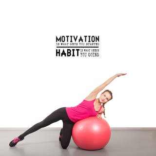Motivation Gets You Started' 24 x 12-inch Wall Decal