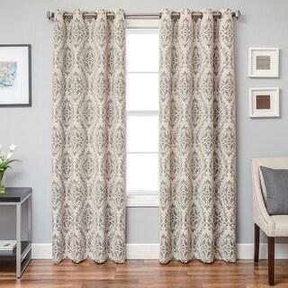 Softline Damascus Damask Grommet Top Curtain Panel