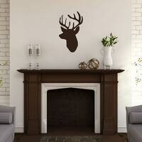 Mounted Buck Head' 14 x 24-inch Wall Decal
