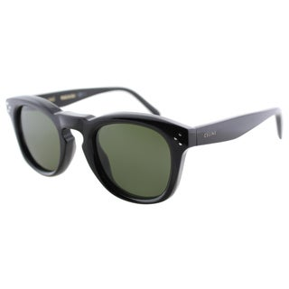 Celine CL 41371 807 Black Plastic Fashion Green Lens Sunglasses