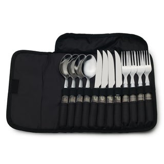 Mossy Oak 12 Piece Flatware Wrap Set