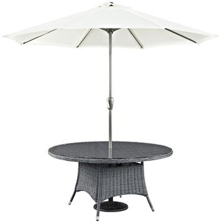 Invite 59-inch Round Outdoor Patio Dining Table