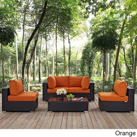 Bocabec 5-piece Outdoor Patio Sectional Set by Havenside Home