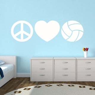Peace Love Volleyball Large Wall Decal