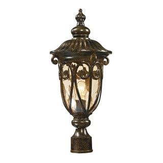 Elk Logansport Hazelnut Bronze 1-light Outdoor Post Lamp