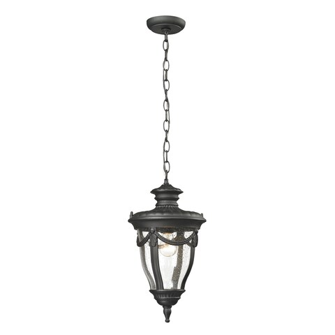 Elk Anise Textured Matte Black 1-light Outdoor Pendant