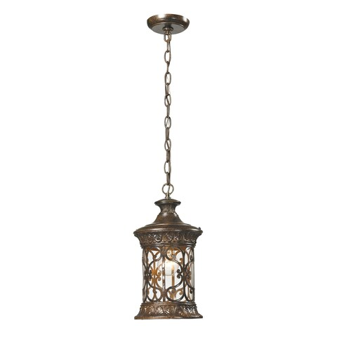 Elk Orlean Hazelnut Bronze 1-light Outdoor Pendant