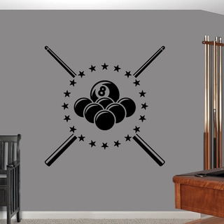 Pool Billiards' 40 x 40-inch Wall Decal