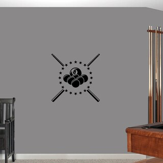 Pool Billiards' 22 x 22-inch Wall Decal
