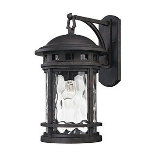 Elk Costa Mesa Weather Charcoal 1-light 20-inch Outdoor Wall Sconce