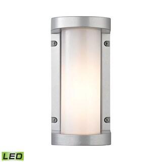 Elk Colby Matte Silver 1-light Outdoor LED Sconce