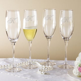 Script Monogram Grand Flutes (Set of 4)