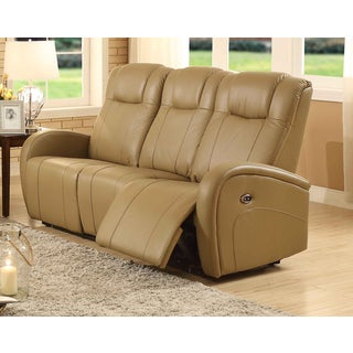 Easy Living Swiss Leather Power Reclining Sofa with USB