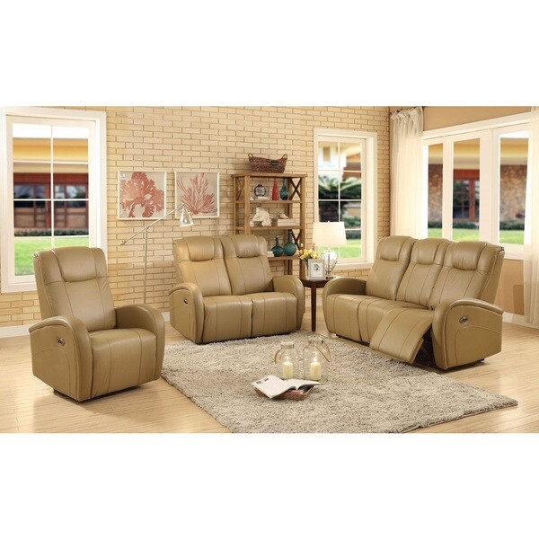 easy living swiss leather 3 piece power reclining living room set with