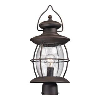Elk Village Lantern Weather Charcoal 1-light Outdoor Post-light