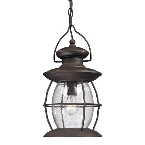 Elk Village Lantern Weather Charcoal 1-light Outdoor Pendant