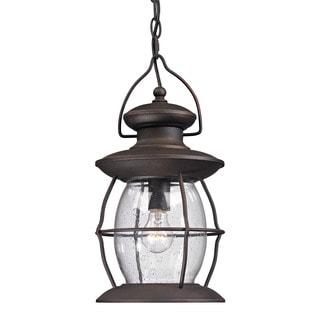 Elk Village Lantern Weather Charcoal 1-light Outdoor Pendant