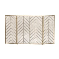 Oliver & James Buri Chevron Metal Fire Screen