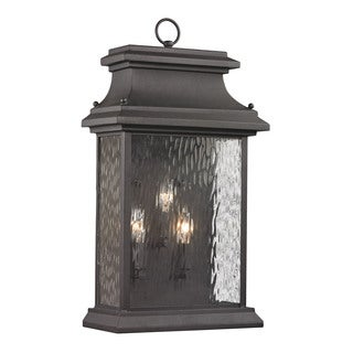 Elk Forged Provincial Charcoal 3-light Outdoor 23-inch Sconce