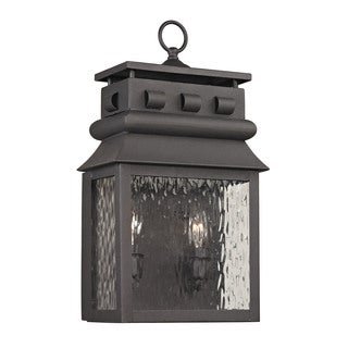 Elk Forged Lancaster Charcoal 2-light 18-inch Outdoor Sconce