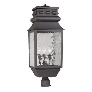 Elk Forged Lancaster Charcoal 3-light Outdoor Post Lamp