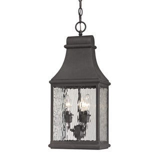 Elk Forged Jefferson Charcoal 3-light Outdoor Pendant
