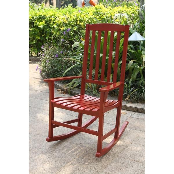 Alston Red Porch Rocker