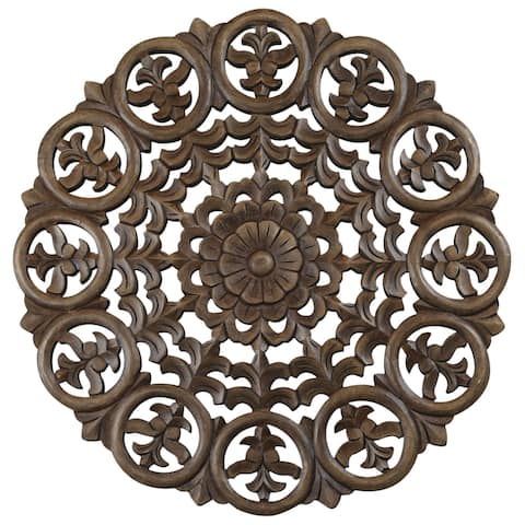 30-inch Light Brown Solaris Five Wooden Wall Panel