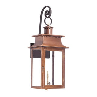 Elk Maryville Aged Copper 34-inch Outdoor Gas Wall Lantern