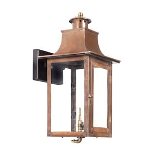 Elk Maryville Aged Copper 20-inch Outdoor Gas Wall Lantern