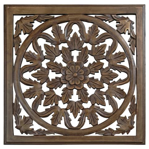 24-inch Brown Solaris Six Wooden Wall Panel