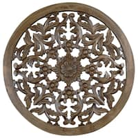 30-inch Light Brown Solaris Four Wooden Wall Panel