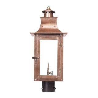 Elk Maryville Aged Copper 23 Inch Outdoor Gas Post Lantern