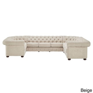 Knightsbridge Tufted Scroll Arm Chesterfield 10-seat U-shaped Sectional by iNSPIRE Q Artisan