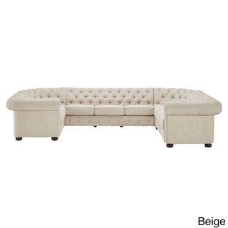Knightsbridge Tufted Scroll Arm Chesterfield 10-seat U-shaped Sectional by SIGNAL HILLS