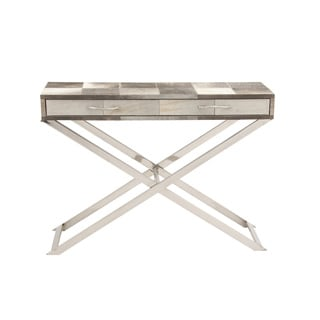 Stainless Steel Wood Hide Console