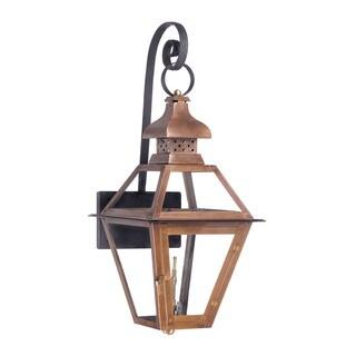 Elk Bayou Aged Copper 30-inch Outdoor Gas Wall Lantern