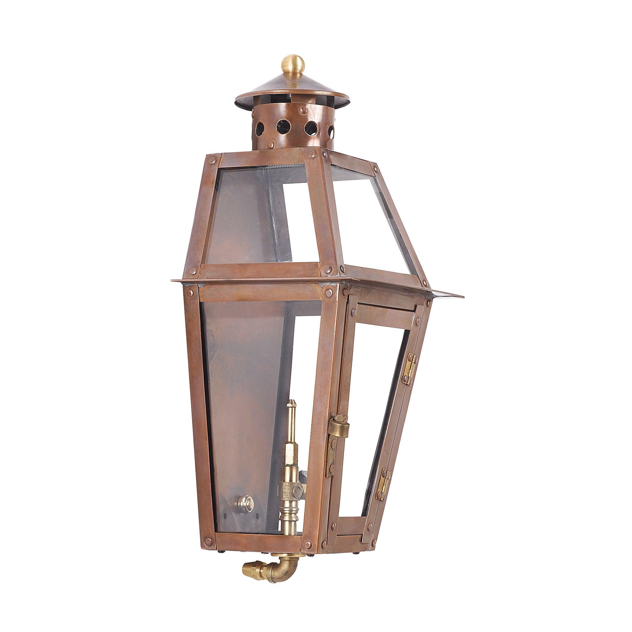 Elk Lighting Grande Isle Aged Copper Outdoor Gas Pocket L...