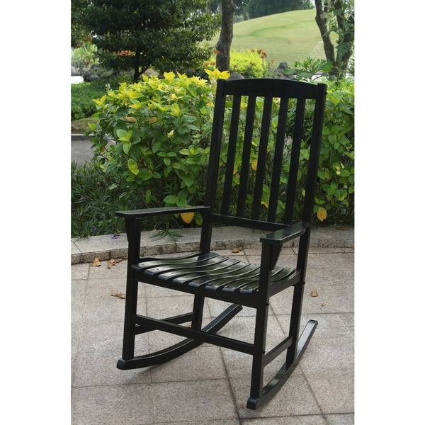Cambridge Casual Alston Black Mahogany Porch Rocker