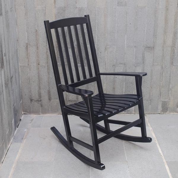 Cambridge Casual Alston Porch Rocking Chair   Black